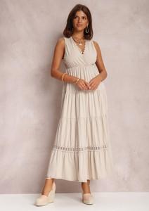 Sukienka Renee maxi trapezowa z dekoltem w kształcie litery v