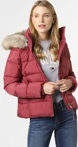 Różowa kurtka Tommy Hilfiger krótka w stylu casual z kapturem
