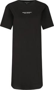 Sukienka Armani Exchange prosta z krótkim rękawem w stylu casual