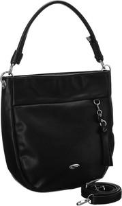 Czarna torebka David Jones w wakacyjnym stylu matowa duża
