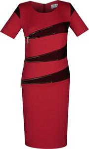 Sukienka Fokus z krótkim rękawem asymetryczna midi