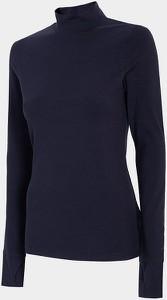 Granatowa bluzka 4F w stylu casual z tkaniny