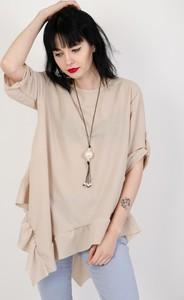 Bluzka Olika z długim rękawem z okrągłym dekoltem