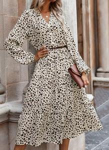 Sukienka Cikelly w stylu boho midi z dekoltem w kształcie litery v