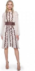 Sukienka ANETA KRĘGLICKA X L'AF z jedwabiu