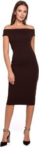 Sukienka Merg z krótkim rękawem midi