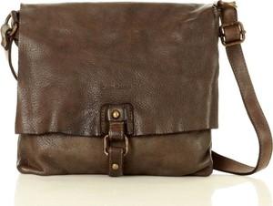 Brązowa torebka Marco Mazzini Handmade ze skóry średnia w stylu retro