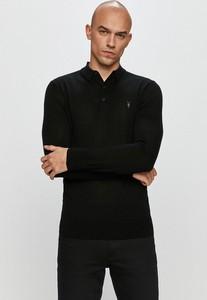 Czarna koszulka z długim rękawem AllSaints z wełny