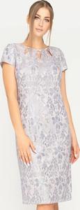 Sukienka Tomasz Sar prosta mini z okrągłym dekoltem