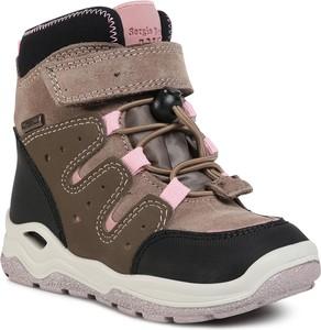 Brązowe buty dziecięce zimowe Sergio Bardi Young