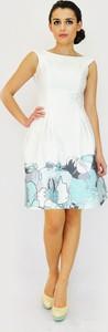 Sukienka Camill Fashion mini dla puszystych z okrągłym dekoltem
