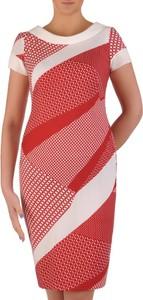 Sukienka POLSKA z okrągłym dekoltem z tkaniny midi