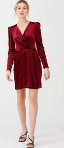 Sukienka V by Very mini kopertowa z długim rękawem