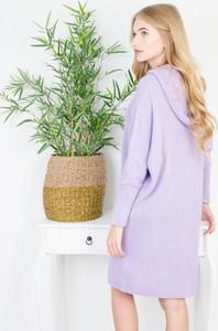 Fioletowa sukienka Olika z długim rękawem