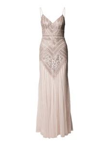 Sukienka Lace & Beads maxi z dekoltem w kształcie litery v