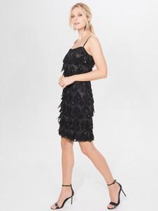 Czarna sukienka Mohito mini dopasowana