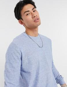 Niebieski sweter Selected Homme z okrągłym dekoltem w stylu casual