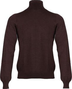 Brązowy sweter Gran Sasso z tkaniny