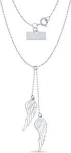 producent niezdefiniowany Srebrny naszyjnik 925 Krawatka Skrzydło Anioła