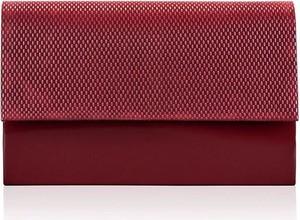 Czerwona torebka Kemer z tłoczeniem