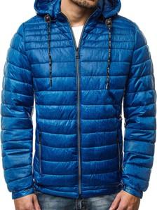 Niebieska kurtka Ozonee.pl w stylu casual