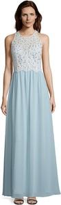 Niebieska sukienka Vera Mont z okrągłym dekoltem bez rękawów