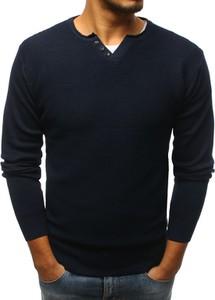 Granatowy sweter Dstreet w stylu casual