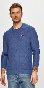 Niebieski sweter Tommy Jeans w stylu casual z dzianiny