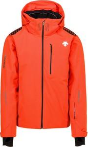 Pomarańczowa kurtka Descente krótka z tkaniny