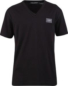 Czarny t-shirt Dolce & Gabbana w stylu casual