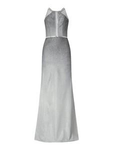 Sukienka Luxuar bez rękawów z dekoltem halter prosta