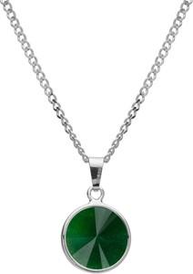 GIORRE Srebrny naszyjnik z naturalnym kamieniem - jadeit, srebro 925 : Długość (cm) - 40 + 5 , Kamienie naturalne - kolor - jadeit zielony ciemny, Srebro - kolor pokrycia - Pokrycie platyną