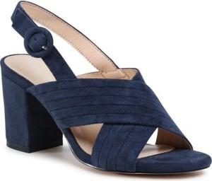 Granatowe sandały Clara Barson z klamrami