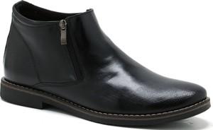 Czarne buty zimowe Moskała
