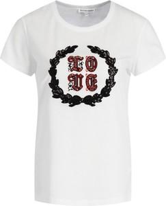 T-shirt Silvian Heach z krótkim rękawem z okrągłym dekoltem w młodzieżowym stylu