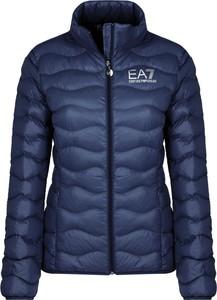 Granatowa kurtka Emporio Armani w stylu casual krótka