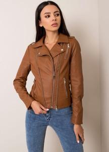 Brązowa kurtka Factory Price krótka w stylu casual