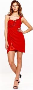 Sukienka Fokus dopasowana z szyfonu w stylu casual