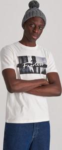 T-shirt Reserved z bawełny z nadrukiem
