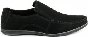 Czarne półbuty AKARDO w stylu casual