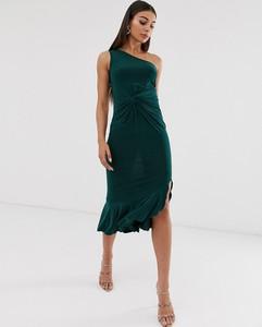 Zielona sukienka Club L London midi bez rękawów