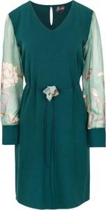 Zielona sukienka ELEONORA PORTERA z szyfonu