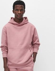 Różowa bluza Reserved z bawełny w młodzieżowym stylu
