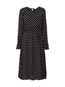 Czarna sukienka Tom Tailor Denim midi w stylu casual z długim rękawem