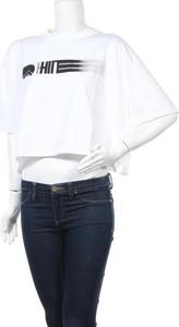 T-shirt Hiit z okrągłym dekoltem z krótkim rękawem w sportowym stylu