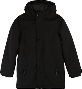 Czarny płaszcz dziecięcy Karl Lagerfeld