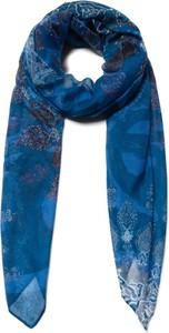 Niebieski szalik Desigual w stylu casual