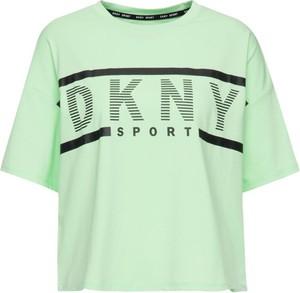 T-shirt Dkny Sport z okrągłym dekoltem z krótkim rękawem