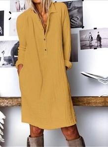 Sukienka Sandbella z długim rękawem prosta mini