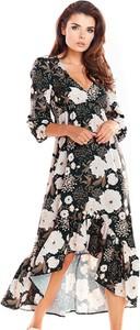 Sukienka Awama maxi z szyfonu